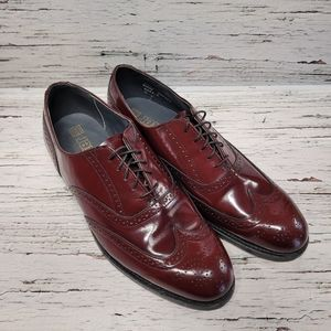 Dexter Leather Wingtip Brogues Oxford Shoes Maroon Red Mens 9.5 WW
